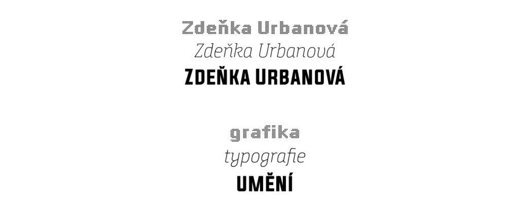 Zdenka Urbanová Grafika Typografie Umeni